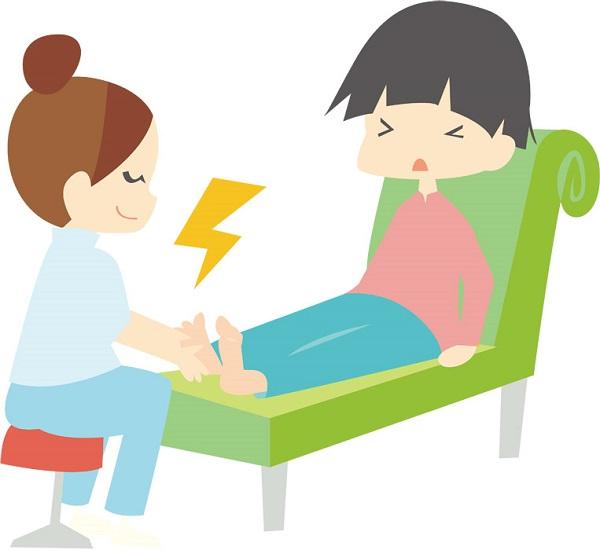 足裏の施術なのに痛くない、胃腸の不調・冷え性には足裏刺激!